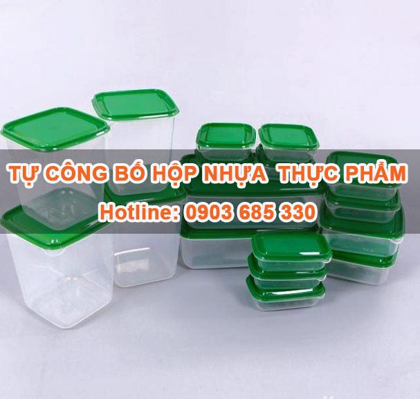 Tự công bố Hộp nhựa đựng thực phẩm