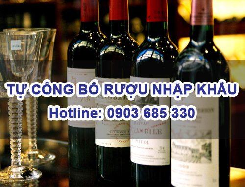 Thủ tục Tự công bố chất lượng Rượu nhập khẩu