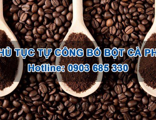 Hướng dẫn tự công bố chất lượng Bột cà phê