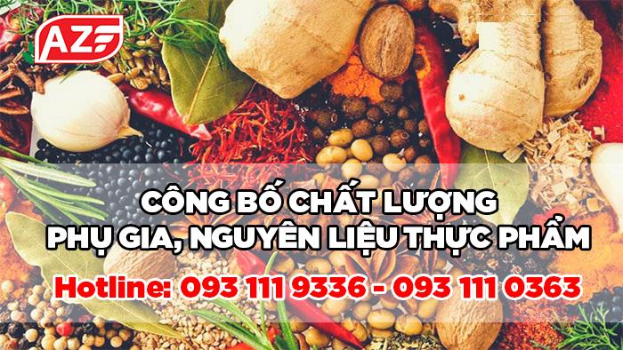 Công bố chất lượng Nguyên liệu thực phẩm - 093 111 9336
