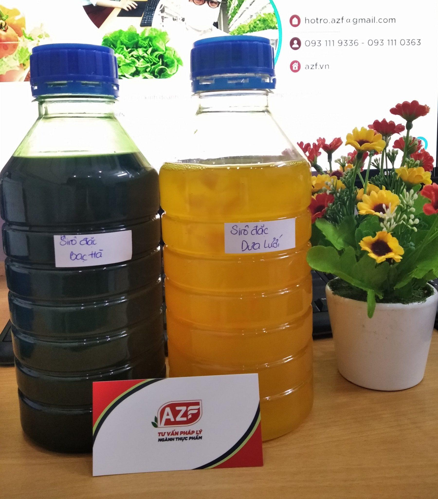 Tự Công bố sản phẩm Si rô (syrup) - 093 111 9336