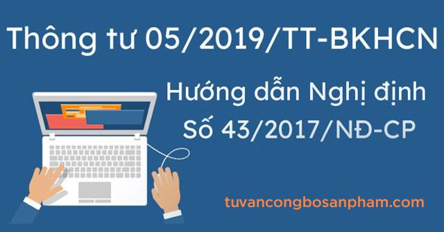 Thông tư quy định cách ghi nhãn hàng hóa theo nghị định 43/2017/nđ-cp