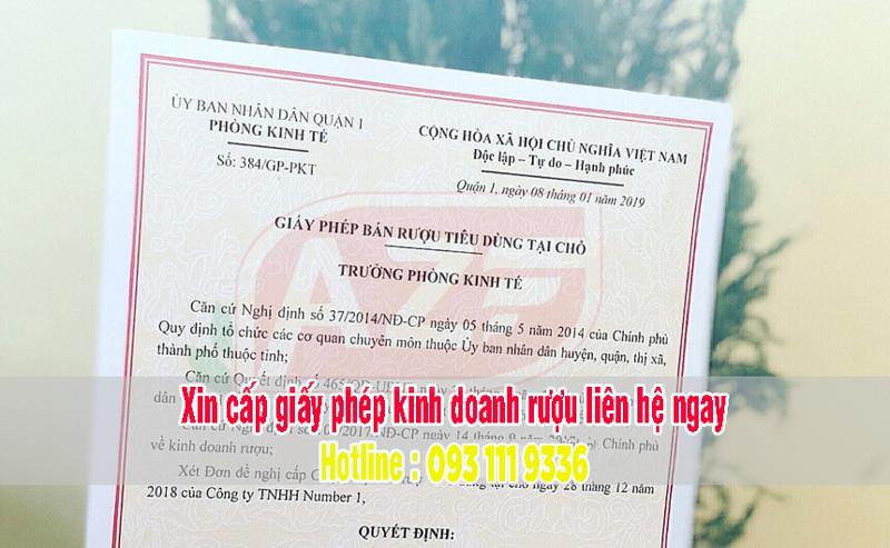 Mẫu giấy phép kinh doanh rượu AZF thực hiện cho khách hàng