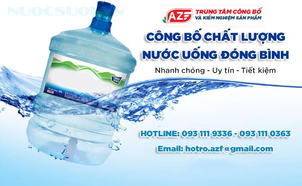 Hướng dẫn đăng ký Tự công bố Nước uống đóng bình - 093 111 9336